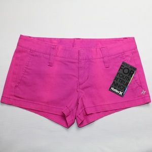 NWT Hurley Juniors Pink Lowrider Shorts, Size 0